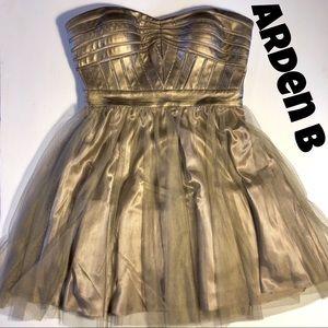 Arden B Party Cocktail Dress gold / light bronze M